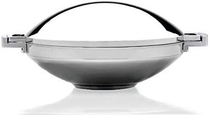 Berghoff Neo Wok de 36 cm en Acier Inoxydable avec Couvercle