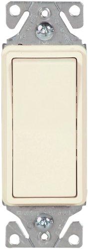Eaton 7513LA 15-Amp 120-277-volt Heavy-Duty Grade 3-Way Decorator Lighted Switch, Light Almond