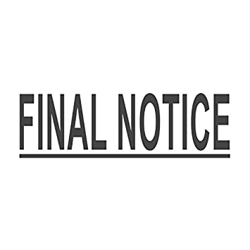amazon com final notice with underline pre inked office rubber