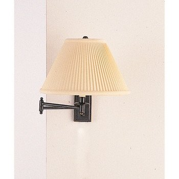 Robert Abbey Z1504DBZ Kinetic - One Light Wall Swinger, Deep Patina Bronze Finish with Natural Side Pleat Fabric Shade (Bronze Swing Abbey Arm)