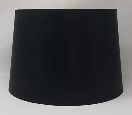 30 cm Abat-jour Lampadaire Fait /à la Main pour Lampe de Table Tissu Noir avec Doublure Dor/ée