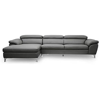 Astounding Baxton Studio Voight Modern Sectional Sofa Gray Uwap Interior Chair Design Uwaporg