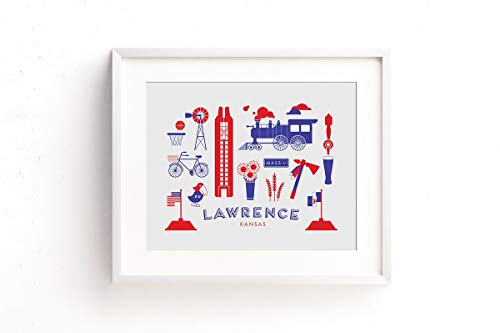 Lawrence Kansas Art Print ()