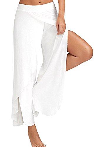 white pants with split - 4