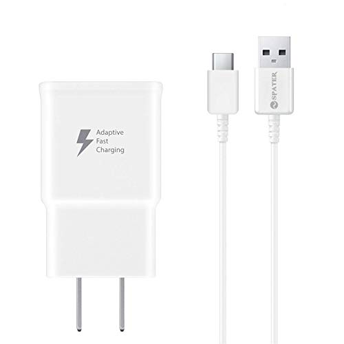 Adaptive Fast Charging Wall Charger Kit Set with USB-C Cable, Compatible with Samsung Galaxy S10 / S8 / S9 + Note8 / Note9