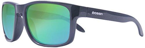 Ocean Sunglasses - Blue Moon - lunettes de soleil polarisées - Monture : Noir Laqué - Verres : Revo Vert (19202.4)