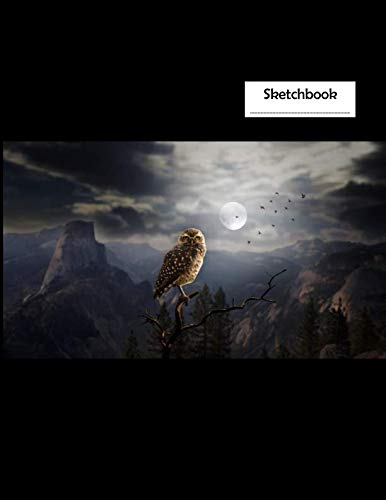 Sketchbook: Moonlight Owl - A Halloween Themed Large