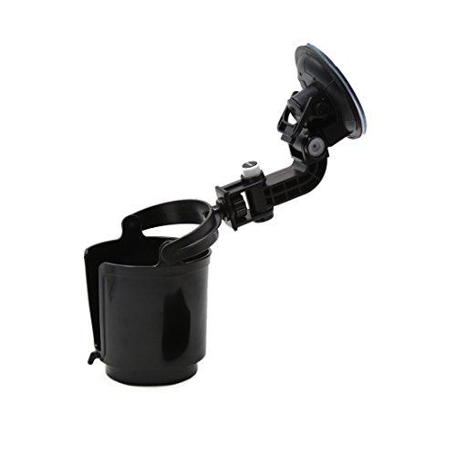 uxcell Truck Car Vehicle Window Plastic Adjustable Suction Cup Mount Drink Beverage Holder Black