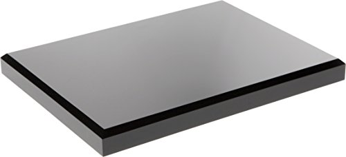 "Plymor Brand Black Acrylic Rectangular Beveled Display Base.75"" H x 8"" W x 6"" D"