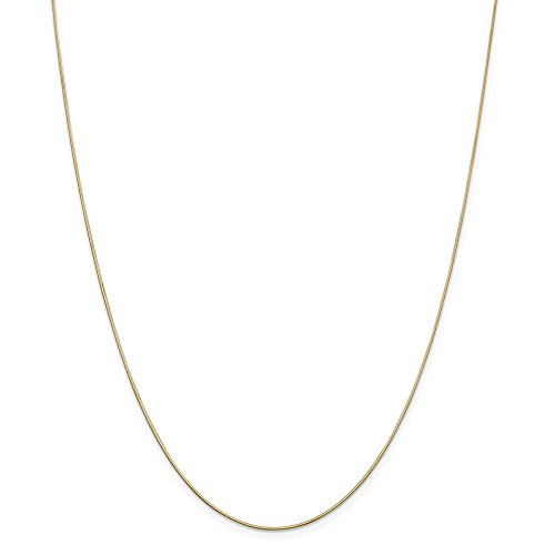 Solid Octagonal Snake - Mia Diamonds 14k Solid Yellow Gold .80mm Octagonal Snake Necklace Chain -18