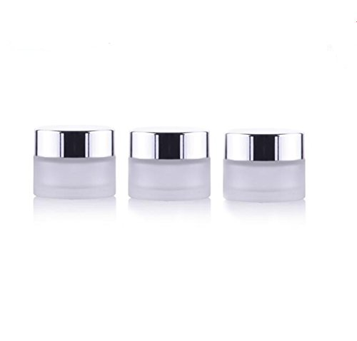 3PCS Refillable Empty Glass Cosmetic Storage Containers With