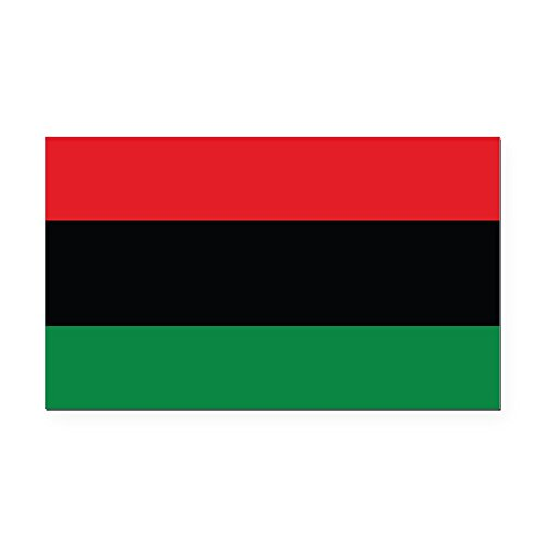CafePress - The Red, Black and Green Flag Rectangle Car Magnet - Rectangle Car Magnet, Magnetic Bumper Sticker