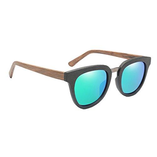 1x Amarillo UV Verde Lectura Viaje Homyl Cómodo de Conducir Gafas Describe como de 400 Sol se Duradero Senderismo Pesca Hombres Madera dSgRqSaY