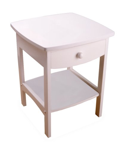 Winsome Wood 10218 Claire Accent Table, White (Nightstand White Round)