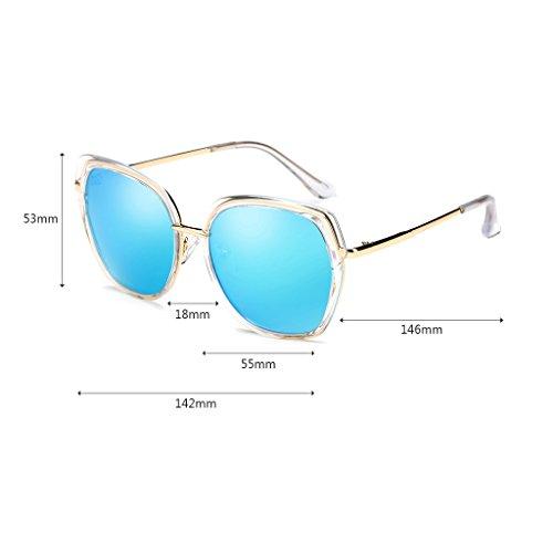 Gafas Sol Mujeres Fashion Protección Vacaciones Azul Color Polarizer UV Pink 400 Viajar de Star Film Color Conducción ZHHL 100 Sunglasses ZWwIvwq8