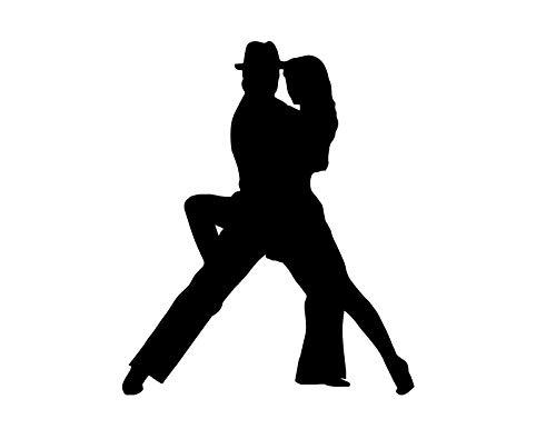 "JB Print Magnet Latin Dance Pair Woman On Right Vinyl Decal Sticker Car Waterproof Car Decal Magnetic Bumper Sticker 5"""