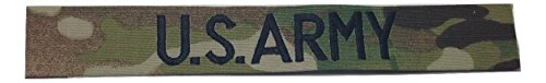 US ARMY Branch Tape, Sew-On (without Fastener), ACU, Multicam OCP, Black, OD Green, Desert Tan, White (without Fastener, Multicam OCP) (Desert Cam)