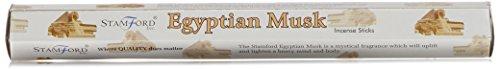37144 Stamford Premium Hex Range Incense Sticks - Egyptian Musk by - Stamford Shopping