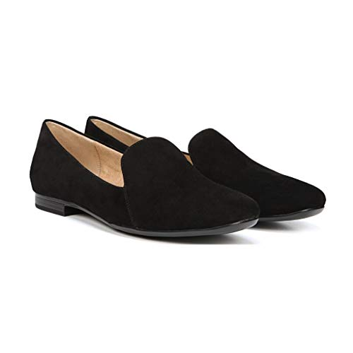 Naturalizer Women's Emiline Flat Loafer, Black Suede, 7.5 - Loafers Suede Naturalizer