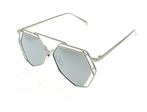 Frame Driving Fishing Lens Mirror Eyewear Women Anti Rock Party UV Travelling Style Indoor Polarized Sports Hollow For Metal silver Fashion Sunglasses Protection Climbing Outdoor For Man Decorations Glasses wnY0BqXFIX
