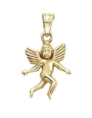 JewelryWeb 14 Carats Pendentif Ange
