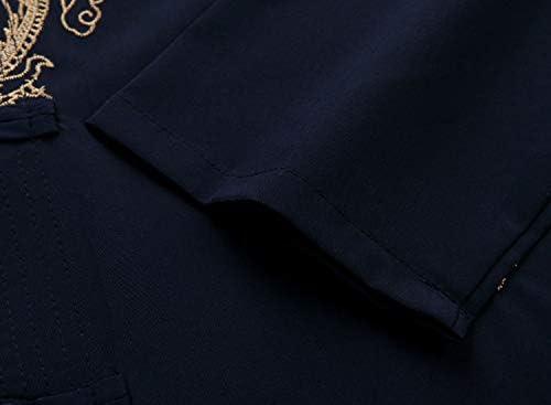Tang Suit Men Hanfu Chinese Traditional Clothes Kung Fu Shirt Uniform Short Sleeved Coat Tops and Pants