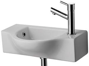 Alfi Brand Ab105 Small Wall Mounted Ceramic Bathroom Sink