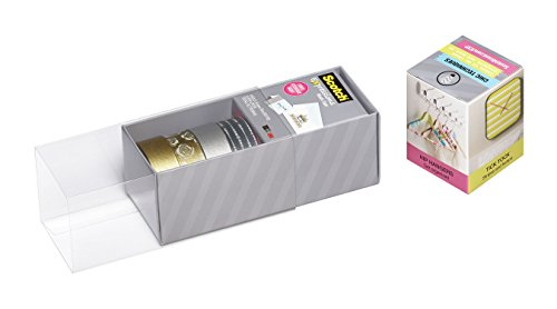 Scotch Expressions Washi Tape, Multi-Pack with Storage Box, Silver and Gold, 4 Rolls (C317-4PK-SILGD) Photo #2