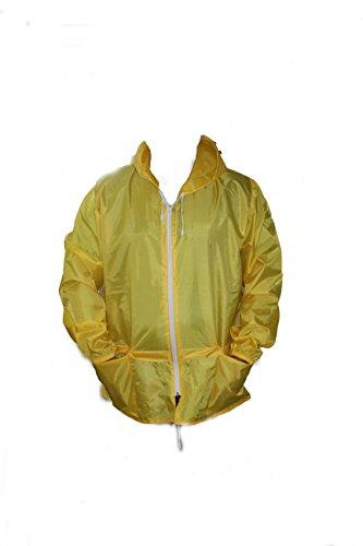 Girl Hooded Lightweight Proof Cagoule Shower Mens Rain Yellow Talk Workwear r7SCRwqPrn