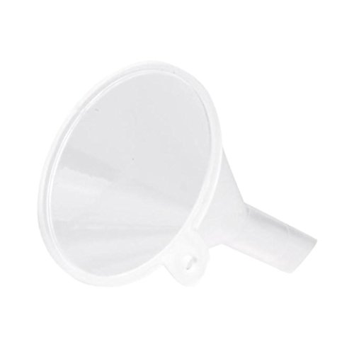 Leoy88 5-Pieces All Purpose Wide-Mouth Bright Plastic Funnel Set for Car Oil, Gas and Fluids (white)