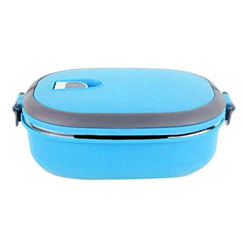 Single/Two Layers Rectangle Stainless Steel Lunch Box Insulated Thermos Bento School Student Children Food Container ()