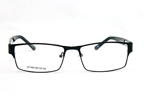 Newbee Fashion - Slim High Quality Metal Frame Durable Prescription Only Glasses with Spring Hinge