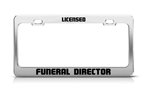 Wrpios Licensed Funeral Director Supportive Fun Custom Metal Tag License Plate Frame