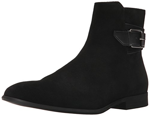 Mens Black Suede Boot - Calvin Klein Men's Lorenzo Calf Suede Ankle Bootie, Black, 9.5 M US