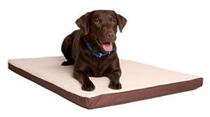 B005V0KKI603D Great Paw Comfort Crate Memory Foam Dog Bed, Large