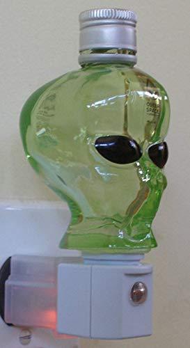 Outer Space Vodka Alien Head Green Glass Bottle Night Light