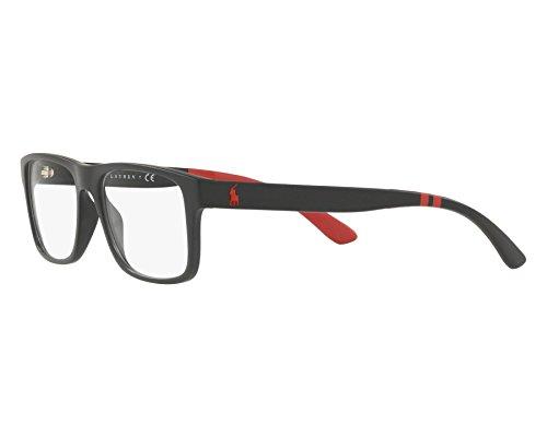 15506e28811 ... Polo Ralph Lauren - Montures de lunettes - Homme Noir noir mat Large ...