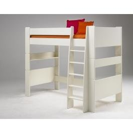 Steens High Sleeper Bunk Bed In White Mdf Wood By