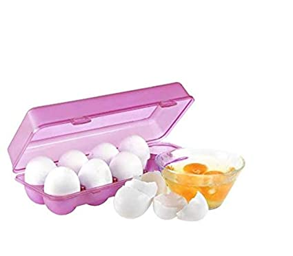 Buy Synergy Collection 10 Grids Egg Storage Box Refrigerator Crisper Egg Holder Egg Cartons Egg Tray Plastic Egg Cartons Online At Low Prices In India Amazon In