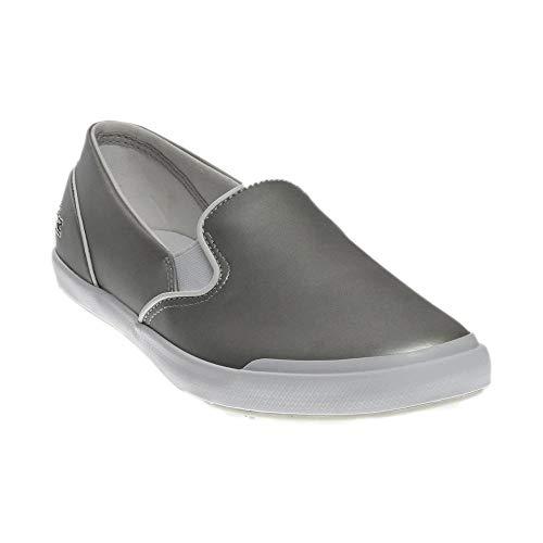 Lacoste Women's Lancelle Slip On 117 2 Fashion Sneaker, Light Grey, 8 M US - Lacoste Slip On Sneakers