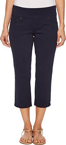 Jag Jeans Women's Petite Peri Straight Pull on Crop, Nautical Navy, 2P