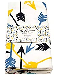 Kitchen Dish Towels, 100% Cotton Extra Large Tea Towels, Arrow printed, Pack of 3 Kitchen Towels of Size 18 X 28 Inches, for Everyday Kitchen Cooking