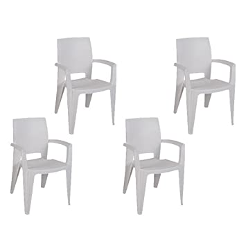 Tensai Amy Armchair in White – Set of 4