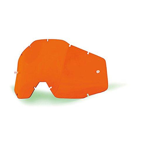 100% Racecraft / Strata / Accuri Anti-Fog Replacement Lens, Orange (Orange Chrome Lens)