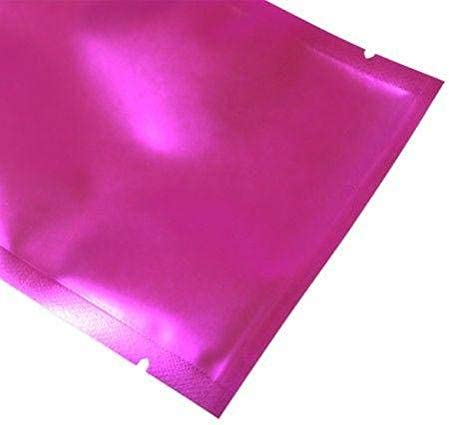 4x7CM ,10 Clear//Hot Pink Open Top Bags Flat Pouch Mylar Type Heat Sealant Packaging 1.57 x 2.75