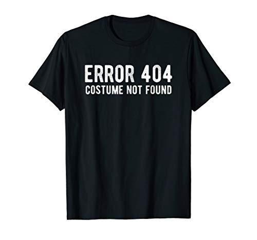 Halloween T-Shirt Error 404 Costume Not Found Funny Code Tee -
