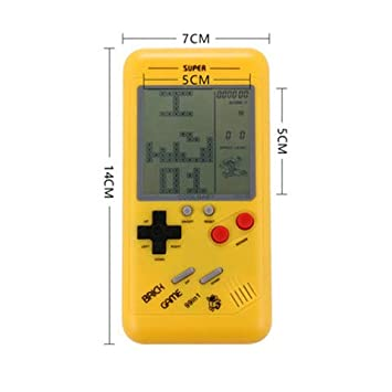 ACHICOO RETR/o Classic Childhood Tetris Handheld Game Players LCD Electronic Games Toys Game Console Riddle Educational Toys Yellow
