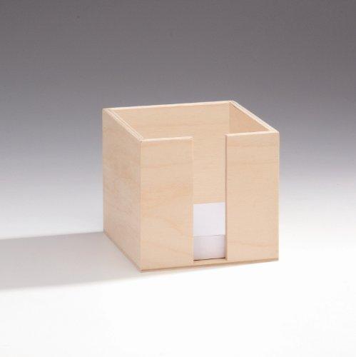 - Glorex Memo Box, Wood, Natural, 11x 11x 10.5cm