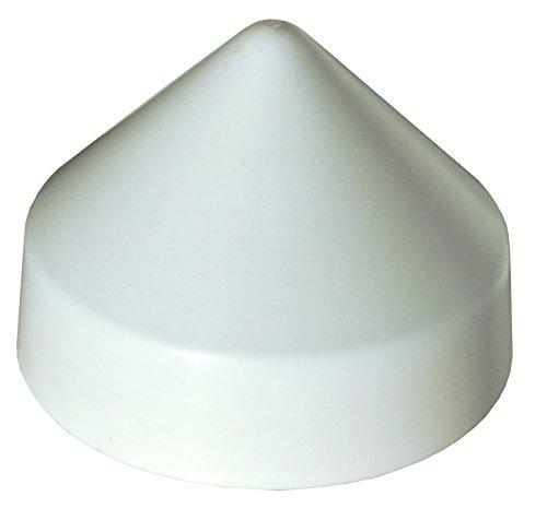 Edge Cap White (Dock Edge PVC Cone Head Piling Cap, White, 12-Inch)
