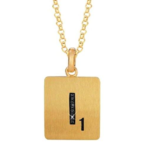 Scrabble .02 ct tw Black Diamond Letter